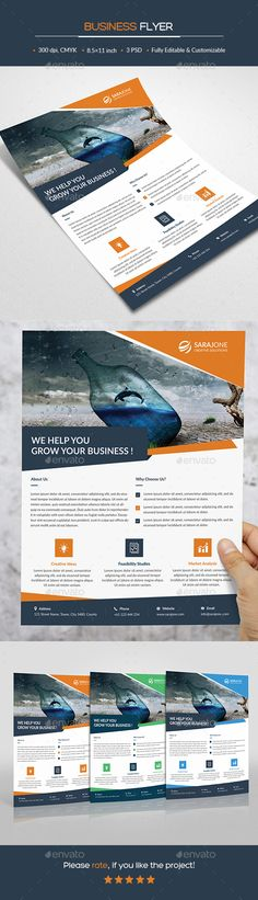 Business Flyer Design Template - Corporate Flyer Template PSD. Download here: https://graphicriver.net/item/business-flyer/17303777?ref=yinkira