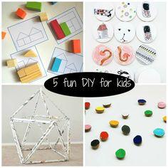 5 Fun DiY for Kids  http://petitspetitstresors.tumblr.com/post/52934395212/5-fun-diy-for-kids