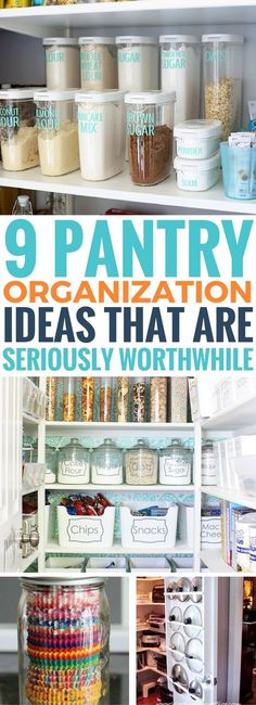 These pantry organization ideas are driving me crazy in a GOOD way! It's so worth trying especially the dollar store ones are amazing! You can organize your pantry for cheap and fast as well as keep it organized! #organization #kitchen #pantryorganization