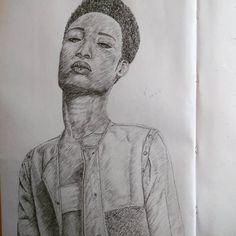 """Not best pleased  www.neuxro.wordpress.com  #instaart #art #pencil #drawing #sketchbook #illustration #A3 #youngblackartists #blackart"""