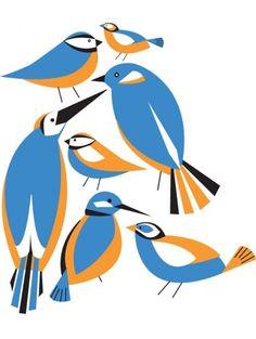 Bird Pattern Bird Illustration, Illustrations, Bird Drawings, Animal Drawings, Bird Silhouette, Naive Art, Colorful Birds, Canvas Artwork, Bird Art