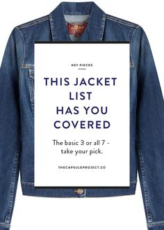 How to build a complete jacket wardrobe