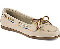 Sperry Top-Sider Audrey Satin Trimmed Slip-On Boat Shoe