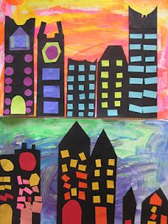 The Lake Forest Louvre -- 2nd grade warm/cool atlanta skylines