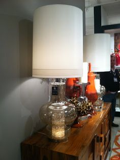 mid-century inspired lamp from @global views, as seen at #hpmkt