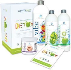 Detox Supplements Kit by Eniva Health  Whole Body Detox  Weight Loss Detox  All Natural Detox  7 Day Detox  NonFasting Detox   #HealthySupplements