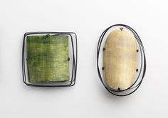 Chiaro Oscura, 2012 Brooches – Sterling Silver blackened, bone, porcelain paint