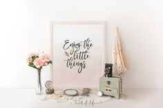 Enjoy the little things sign Printable art by HeartOfLifeDesign