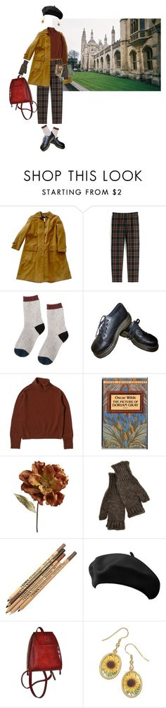 """""""literature studies"""" by hurmikakii ❤ liked on Polyvore featuring Loewe, J.Crew, Dr. Martens, Pier 1 Imports and Inverni"""
