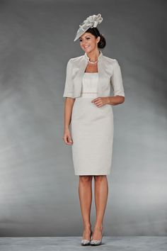 â Ivory John Charles Dress With Pearl Detail On The Bust And Collar Of Matching Jacket Mother Bride Wedding Outfits
