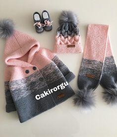 Çakır Örgü'in Instagram gönderisi • 28 Ara, 2018, 6:22öö UTC Crochet Baby Jacket, Knit Baby Dress, Knitted Baby Cardigan, Baby Pullover, Crochet Baby Clothes, Knit Crochet, Diy Crafts Knitting, Knitting For Kids, Baby Knitting Patterns