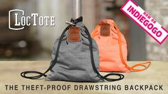 Lock & leave this soft drawstring backpack while you work, play, travel and relax knowing your stuff cannot be tampered with or stolen.