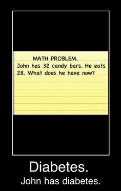 diabetes. John has diabetes.