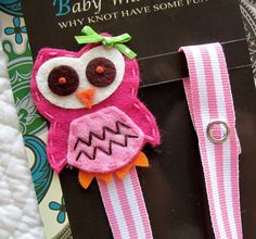 Owl Pacifier Clip by BabyWhatKnots