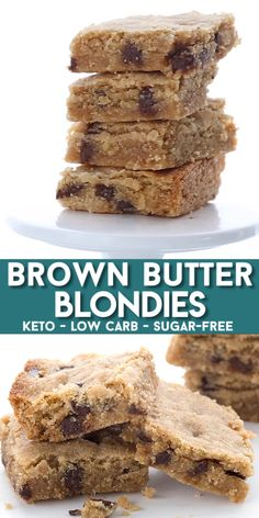 Have you ever had brown butter So delicious with a hint of caramel it takes your keto desserts to the next level These brown butter cookie bars are soft and tender and so easy to make Low carb and sugar-free brownbutter ketodiet ketodesserts easyketo # Keto Desserts, Desserts Sains, Keto Friendly Desserts, Sugar Free Desserts, Healthy Dessert Recipes, Keto Snacks, Easy Desserts, Holiday Desserts, Healthy Food