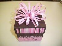 Explosion box con torta