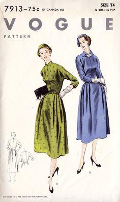 1950s Misses Dress Pattern