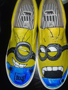 Zapatos pintados de Minions Minions Hand Painted Shoes