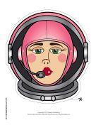 Female Astronaut Mask