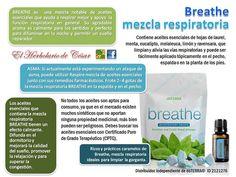 BREATHE, MEZCLA RESPIRATORIA… Estás buscando los aceites esenciales para ayudar para aliviar y protegerte de los problemas respiratorios en general, aliviar el estrés esto conlleva e inculcar un efecto calmante, te recomiendo la mezcla respiratoria BREATHE de dōTERRA, ya que es una mezcla notable de aceites esenciales dōTERRA que ayuda a respirar mejor y a la función respiratoria en general.