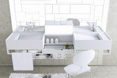 Waschbecken in Weiß von MOMA DESIGN