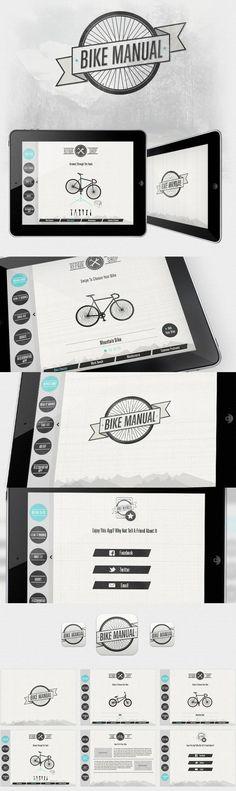 #Bike #Manual #ui #ux #app #ipad: