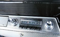 TURN UP THE RADIO!: Here is the radio that Chevrolet installed in its 1961 Impalas. As you can see, it's a pretty no-frills device, capable of receiving only AM broadcasting. Even though FM car radio receivers first appeared in 1952, they pretty much remained a novelty until the second half of the 1960s.