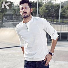 Men wear autumn long sleeve men shirt casual shirt - Men's style Casual Shirts For Men, Men Casual, Casual Clothes, Mens Sweatshirts, Shirt Style, Men Dress, Menswear, Men Shirt, Long Sleeve