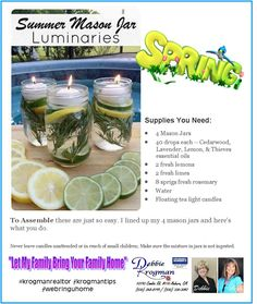 """You're going to love this all-natural DIY CITRONELLA CANDLE alternative. Debbie Krogman ~ Realtor """"Let My Family Bring Your Family Home"""" Coldwell Banker Grass Roots Realty 10193 Combie Rd #110 530-268-8199 / 530-330-3042 #krogmanrealtor #krogmantips #webringuhome #nomorebugs #patiofun #backyard"""