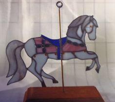 carousel horse Carousel Horses, Garden Art, Stained Glass, Glass, Stained Glass Windows, Yard Art, Stained Glass Panels, Leaded Glass, Fused Glass