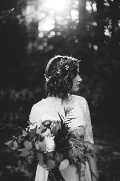 Black & White Wedding Photography | Bridal Hair