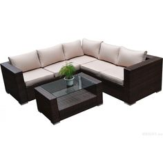 Dress up your outdoor space with the lush seating provided by the Kessler four-piece sectional sofa set. The classic L-shape sofa lets you entertain your guests in comfort and style with a matching beautiful coffee table.