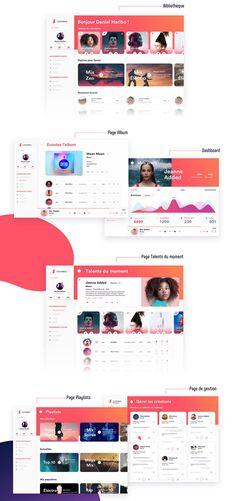Music App Free UI Kit Sketch Pinspiry – App Templates – Ideas of App Templates … - Design Jeanne Added, Music Websites, Software, Windows Defender, Web Design, Music App, Ui Web, Game App, Apps