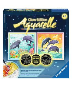 Love this Dolphins Watercolor Painting Set on #zulily! #zulilyfinds