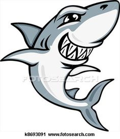 Cartoon shark mascot View Large Illustration (*same logo as PAC. Use for shrinky dinks)