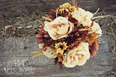 Wedding Bouquet..add navy take out some brown?