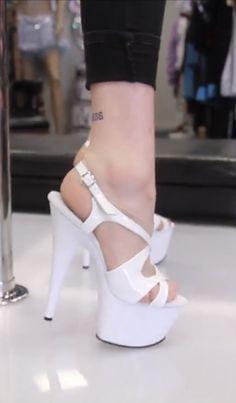 Extreme High Heels, Sexy High Heels, High Heels Stilettos, Stiletto Heels, Shoes Heels, Stripper Heels, Shiny Shoes, Thigh High Boots Heels, Gorgeous Heels