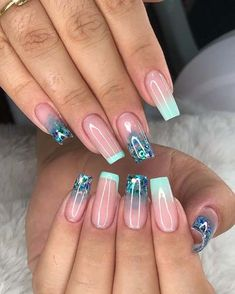 Bling Acrylic Nails, Simple Acrylic Nails, Best Acrylic Nails, Acrylic Nail Designs, Pink Nails, Gel Nails, Fancy Nail Art, Fancy Nails, Cute Nails