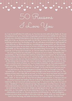 50 Reasons I Love You (birthday cards for friends 52 reasons. 50 Reasons I Love You (birthday cards for friends 52 reasons.
