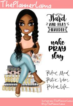 Great for decorating your planner and adding some personalization to your weekly and monthly spreads. Black Love Art, My Black Is Beautiful, African American Quotes, Happy Planner Cover, Diva Quotes, Black Artwork, Self Motivation, Best Inspirational Quotes, Black Girl Magic