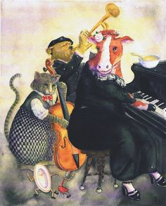 """""""Hey! Hey! Soup""""  limited edition giclee print by Jane Dyer, available at the R. Michelson Galleries or at rmichelson.com"""