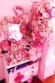 pink dressing room!