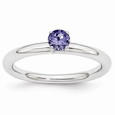 Sterling Silver Stackable Expressions Rhodium Cr. Sapp Ring