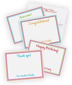 Bright and Fun All Occasion Correspondence Cards