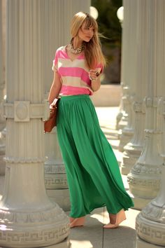 Colorful Maxi Skirts