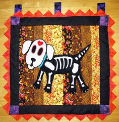 Mi Perrito Day of the Dead Wall Quilt