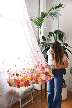 sweet idea! Could do it for a canopy over a bed or anything!