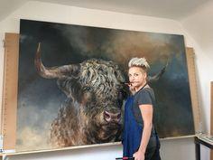 Mini Paintings, Animal Paintings, Animal Drawings, Bull Painting, Painting & Drawing, Buffalo Art, Native American Paintings, Oil Pastel Drawings, Cow Art