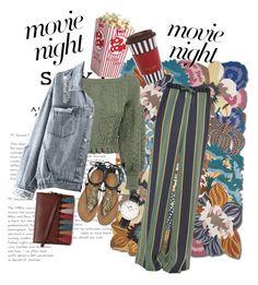 """Movie Night!🥀"" by mo0dstylish on Polyvore featuring Missoni Home, Valentino, Dries Van Noten, Roberto Cavalli, Daniel Wellington and Henri Bendel"