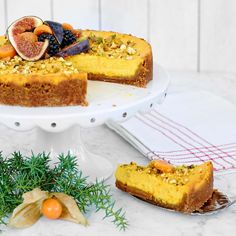 Härligt krämig cheesecake med smak av saffran och pepparkaka.